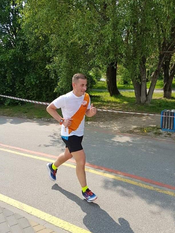 Marcin na trasie III Biegu Wolskiego w Warszawie - 11 maja 2019r.