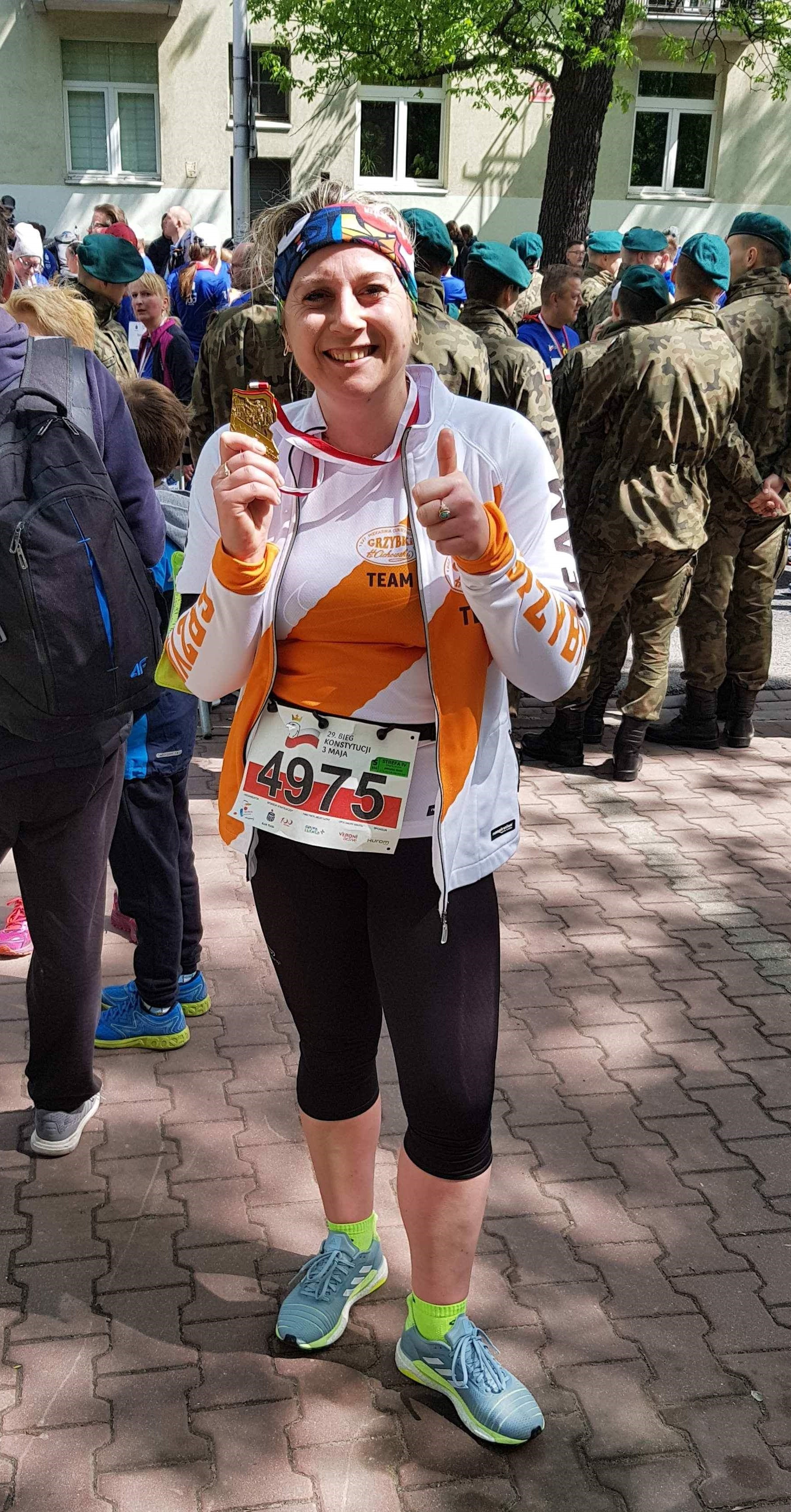 Ania z kolejnym medalem | 29. Bieg Konstytucji 3 Maja w Warszawie 3 maja 2019r.