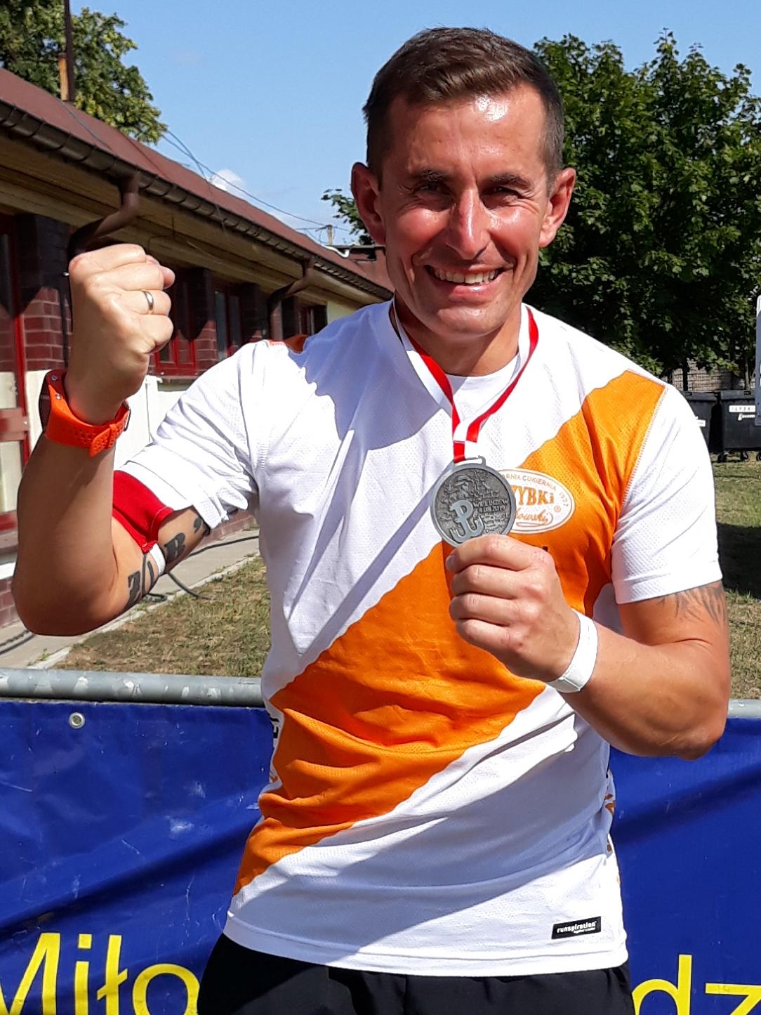 Marcin z kolejnym medalem!   5. Ultramaraton Powstańca - Wieliszew 4 sierpnia 2019 r.