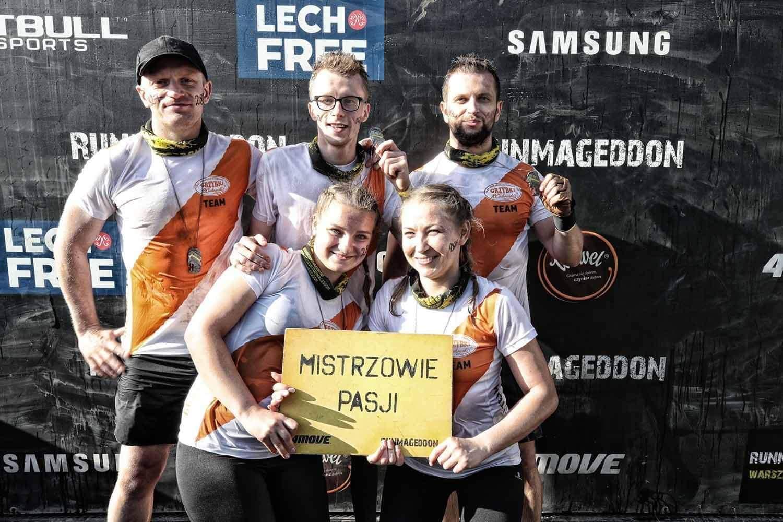 Grzybki Team na mecie!   Runmageddon - Warszawa 14 września 2019 r.