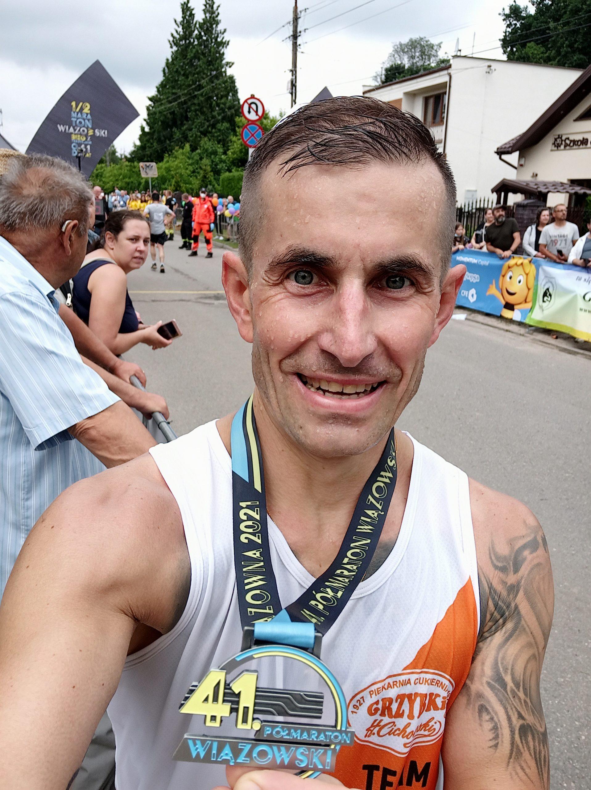 41 Półmaraton Wiązowski 04 lipca 2021 r. - niezawodny Marcin